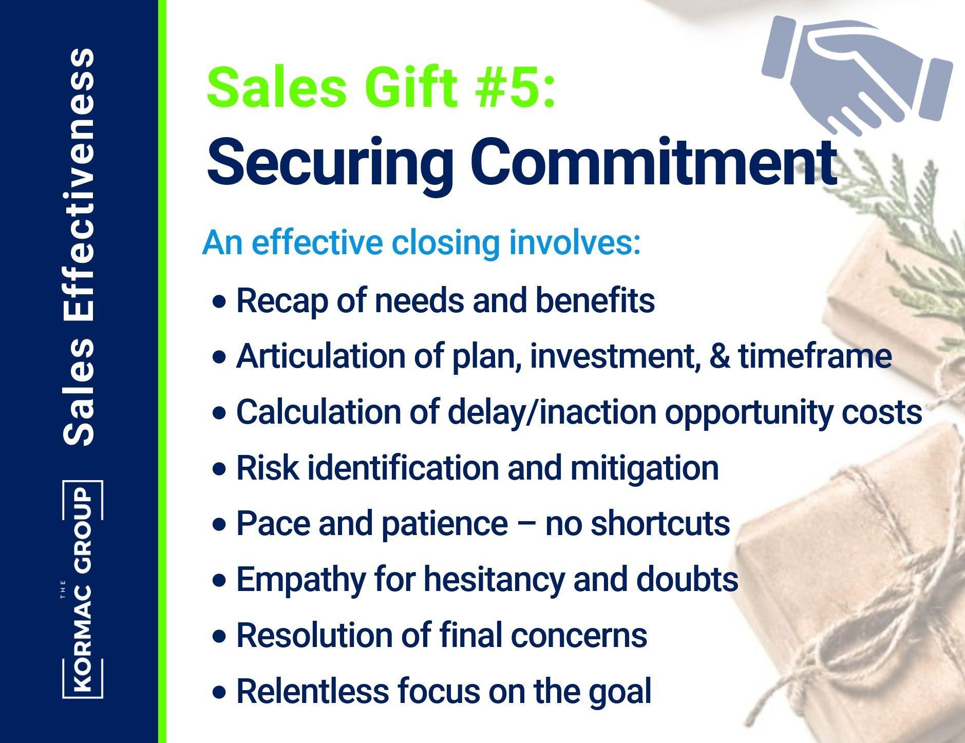 Sales Effectiveness -Gift 5