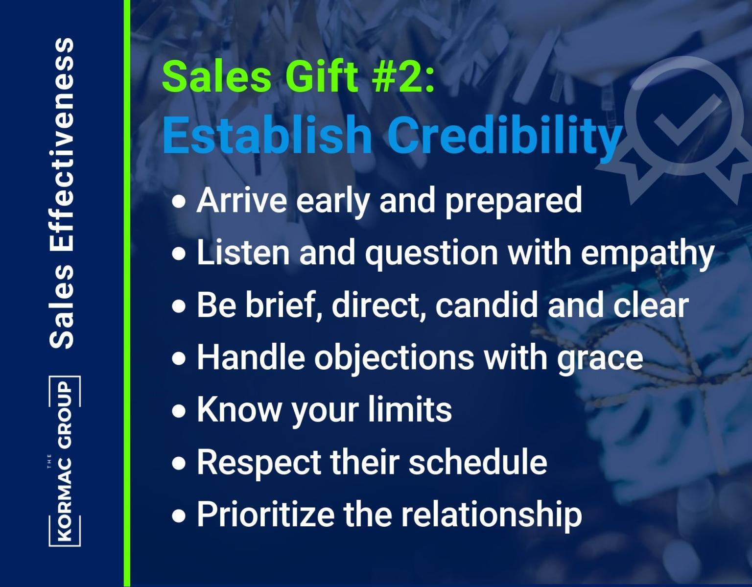 Sales Effectiveness – Gift #2