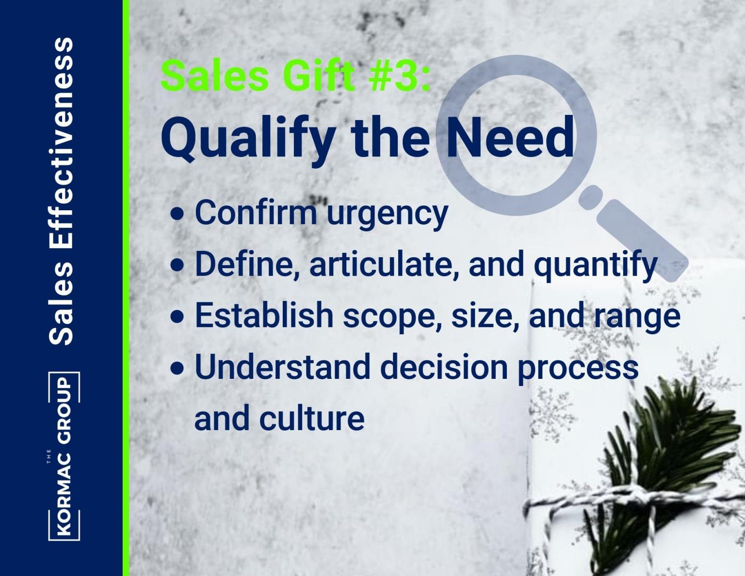 Sales Effectiveness – Gift #3